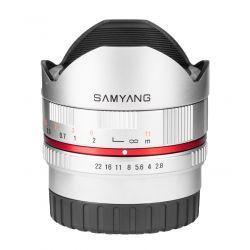 Obiettivo Samyang 8mm f/2.8 UMC Fish-eye x Fujifilm Fuji X Argento