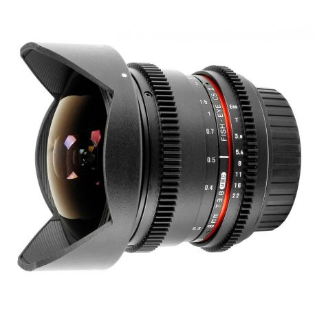 Obiettivo Samyang 8mm T3.8 Fish-eye per Canon VDSLR Video Mark II