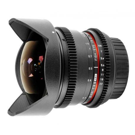 Obiettivo Samyang 8mm T3.8 Fish-eye CS II x Micro Quattro Terzi VDSLR Video