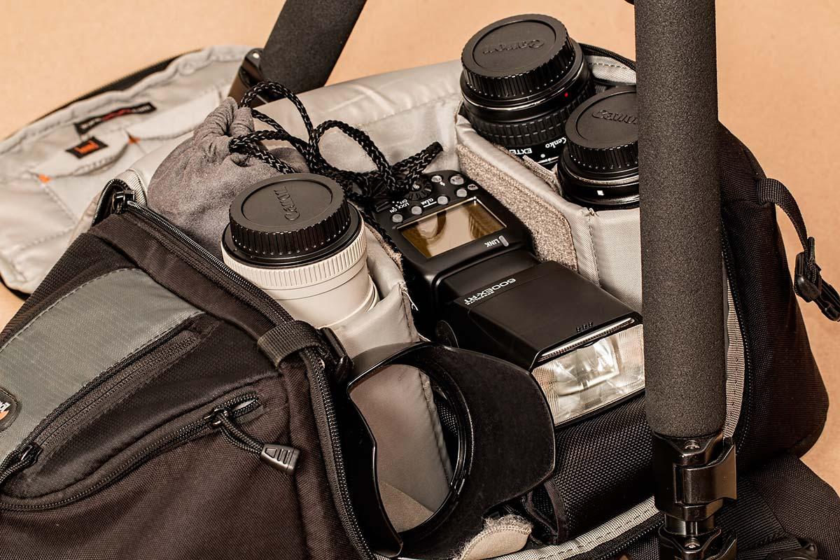 accessori fotografia: la borsa fotografica